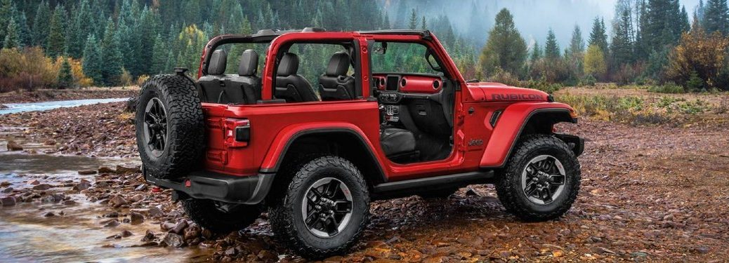2020 Wrangler with the doors removed