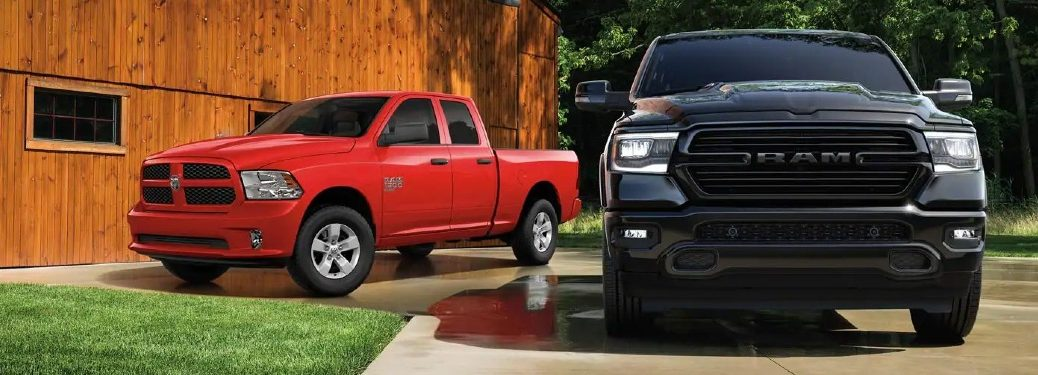 2020 Ram 1500 Classic parked next to barn