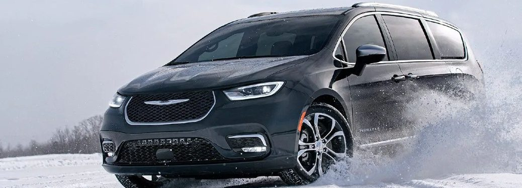 2021 Pacifica in the snow