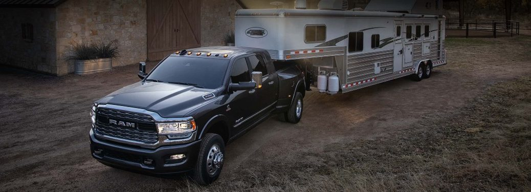 2021 Ram 3500 towing a camper