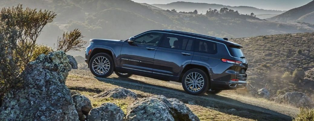 2021 Jeep Grand Cherokee L going uphill