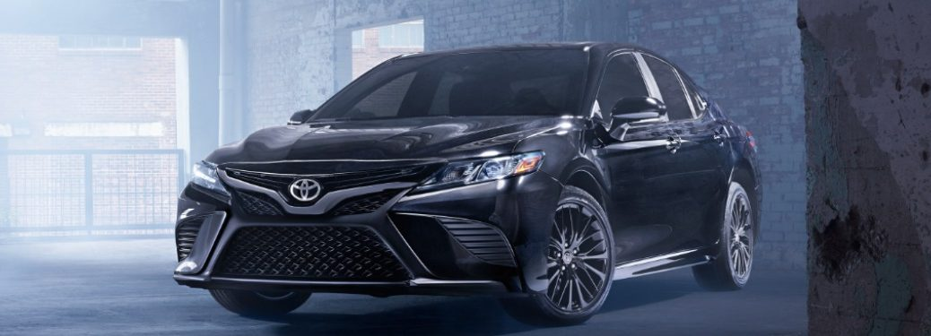 2019 Toyota Camry parked in an abandoned building