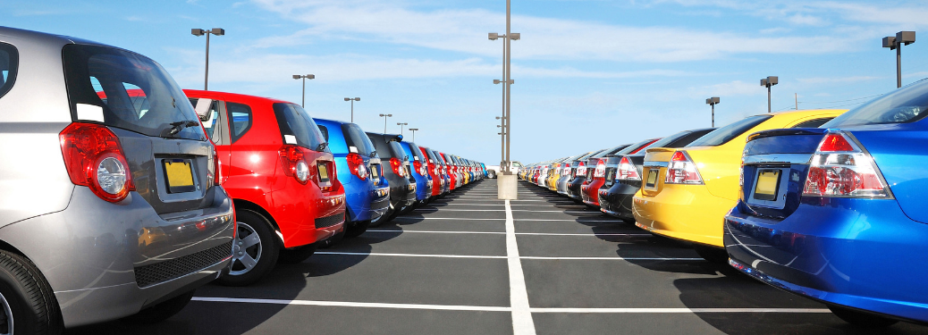 used vehicles lined up in car lot