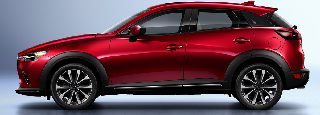 2019 Mazda CX-3 parked in white