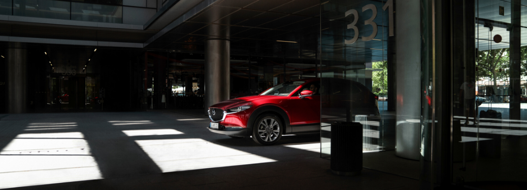 2020 Mazda CX-30 parked under a building