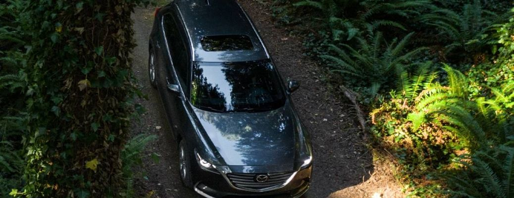 2020 Mazda CX-9 top down view while driving