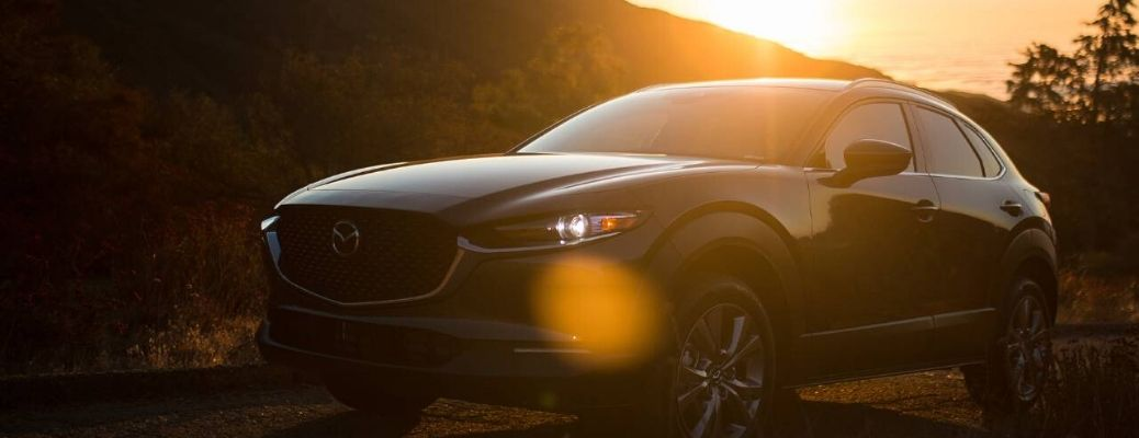 2020 Mazda CX-30 parked in the sunset