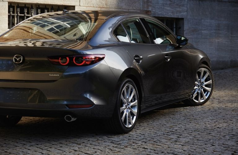 Rear View of a 2021 Mazda3