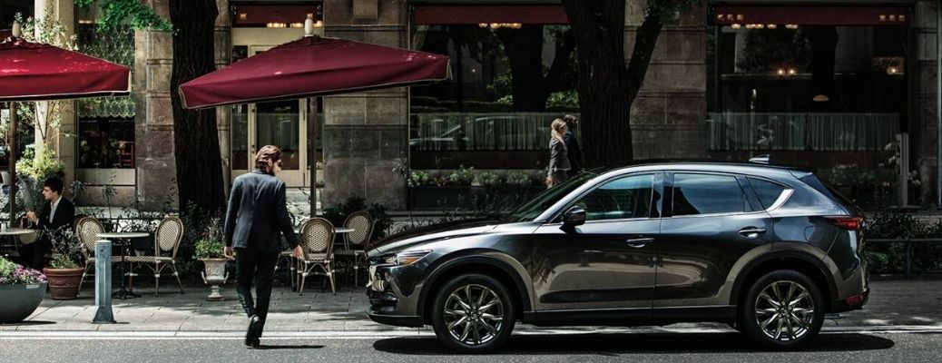 2020 Mazda CX-5 parked on the road side view