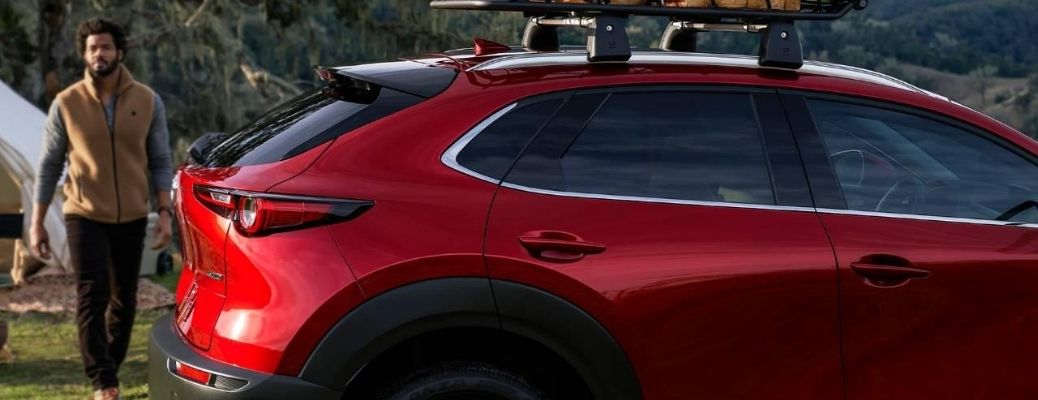 2020 Mazda CX-30 rear side view parked outside