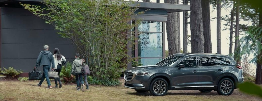 2020 Mazda CX-9 parked outside in forest area