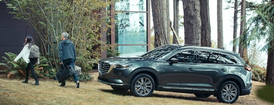 2021 Mazda CX-9 parked outside near trees