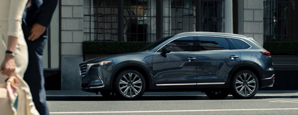 2021 Mazda CX-9 parked outside side view