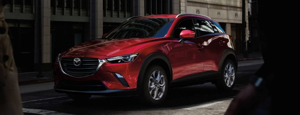 2021 Mazda CX-3 parked outside front view