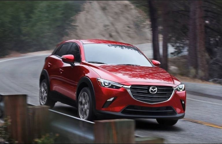 2021 Mazda CX-3 front view on road