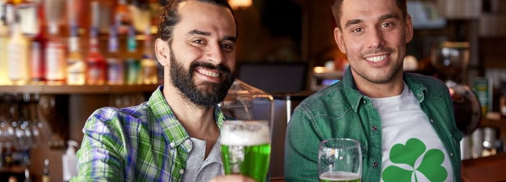 two men celebrating St. Patrick's Day