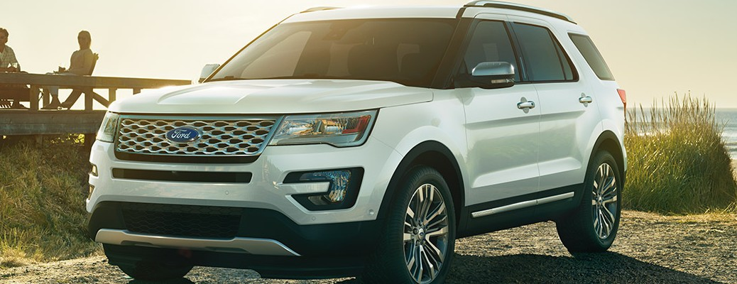 2017 Ford Explorer parked by beach