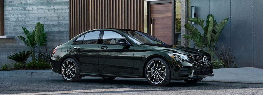 2019 Mercedes-Benz C 300 in Emerald Green with Night Package and 19-inch AMG® twin 5-spoke wheels
