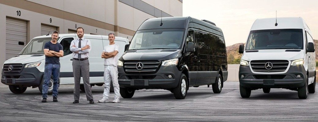 2019 Mercedes-Benz Sprinter Passenger Vans multiple with three people_