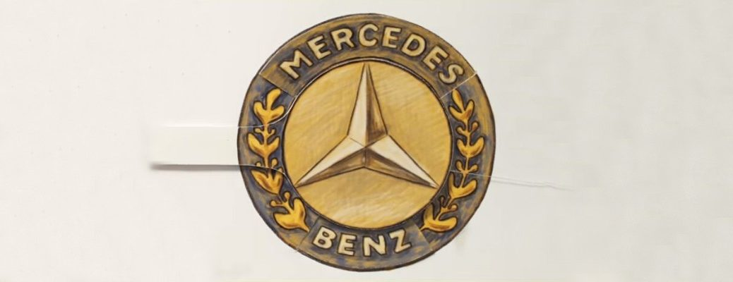 Drawing of Mercedes-Benz logo