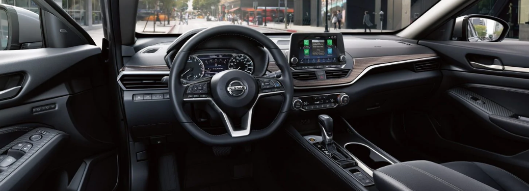 interior front of the 2019 altima