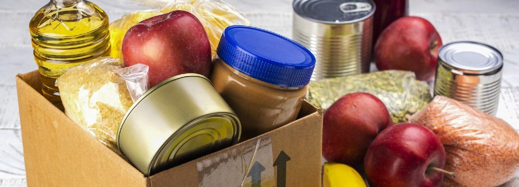 Food donations in a box