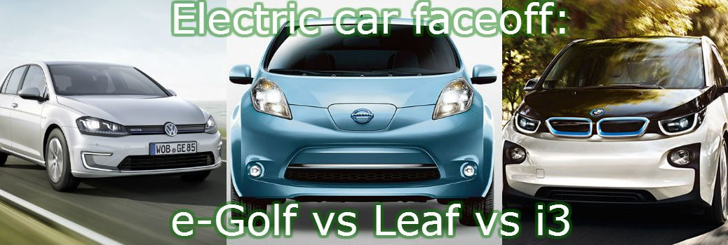 Differences between 2015 VW e-Golf, Nissan Leaf and BMW i3