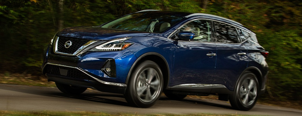 2021 Nissan Murano blue side view