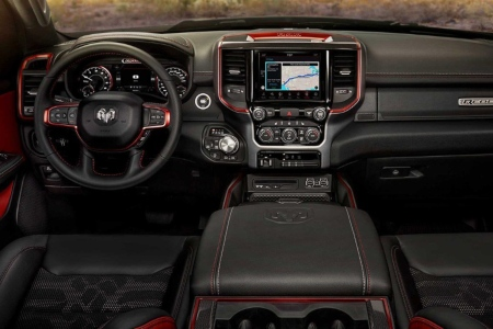 Cockpit view in the 2019 Ram 1500