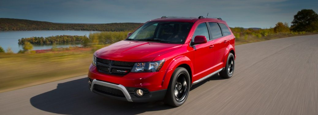 side view of a red 2020 Dodge Journey