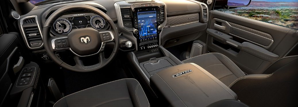 front interior of a 2020 Ram Heavy Duty Limited Black Edition