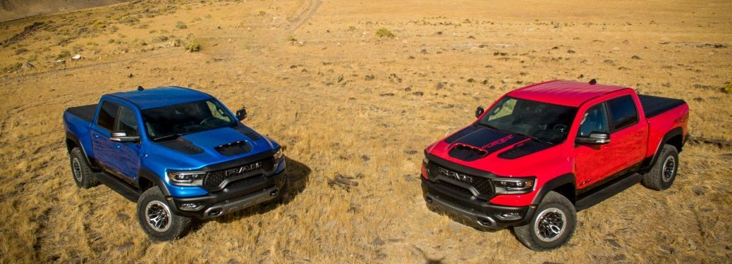 two 2021 Ram 1500 pickup trucks