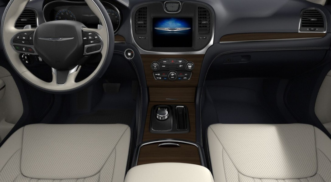 Indigo/Linen interior in the 2019 Chrysler 300