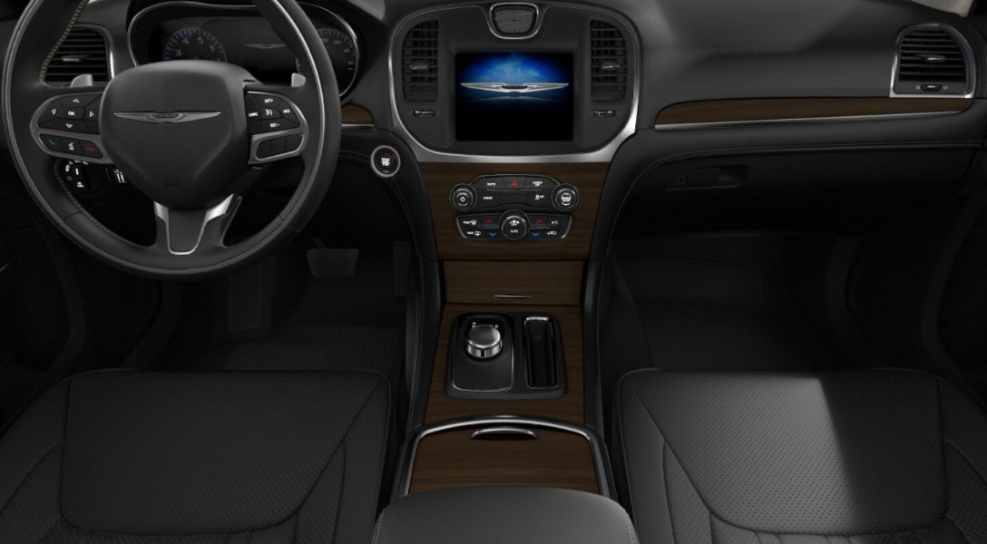 Black interior in the 2019 Chrysler 300
