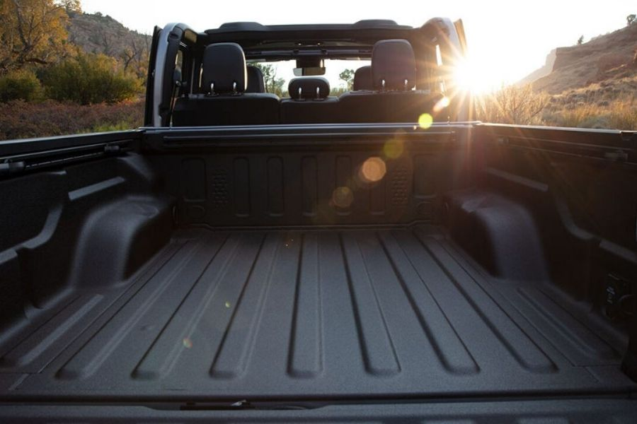2020 Jeep Wrangler view of bed from rear