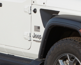 jeep wrangler freedom badging with american flag