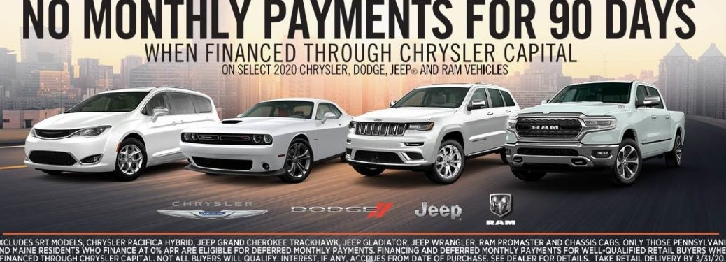 chrysler credit 90 day monthly payment deferral