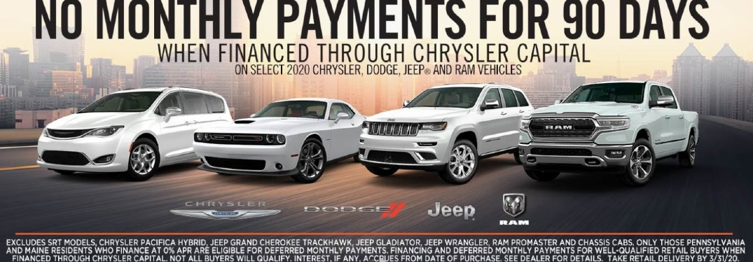 Chrysler Credit Offers 90-Day Payment Deferral