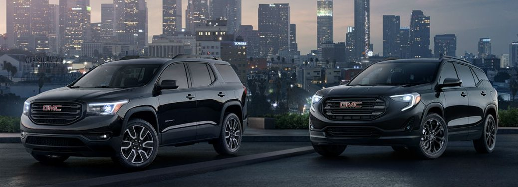 2019 GMC Terrain models in black