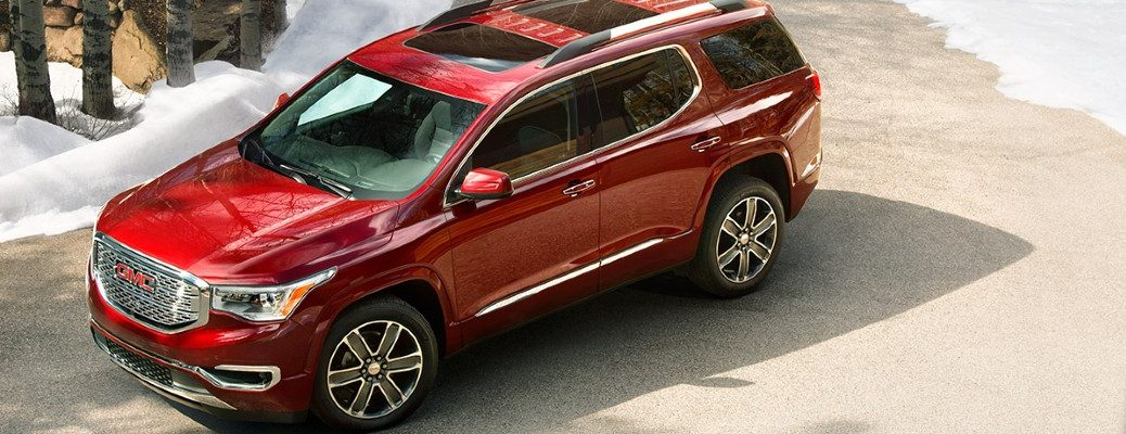 2019 GMC Acadia in red