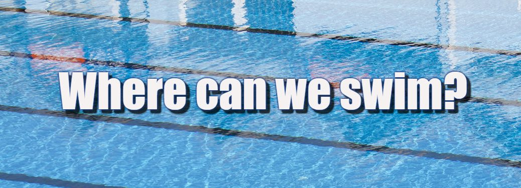 Where can we swim text over swimming pool