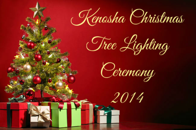 See the Kenosha Christmas tree lighting ceremony 2014