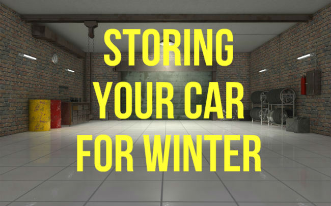 How to store car for winter