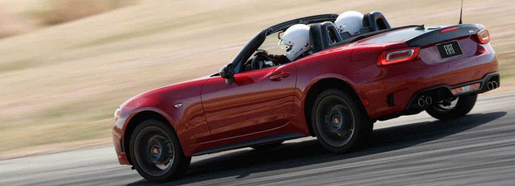 2018 Fiat 124 Spider driving down road