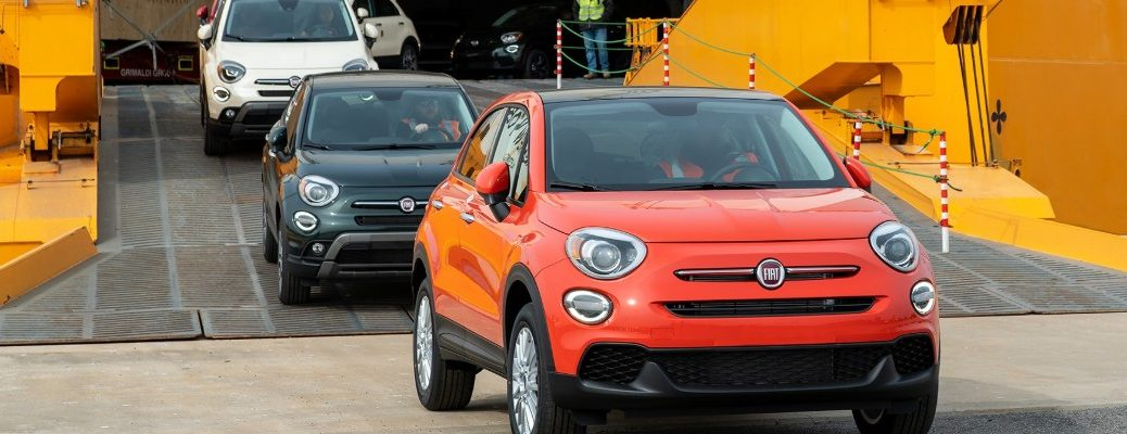 2019 Fiat 500X models shipped in and arriving on American soil at Baltimore Maryland
