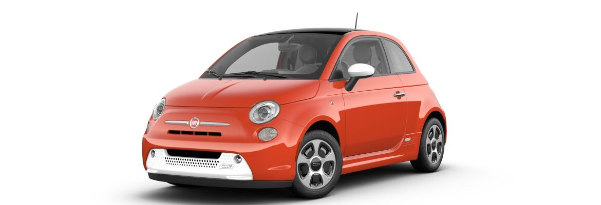 2019 Fiat 500e Luminosa Orange