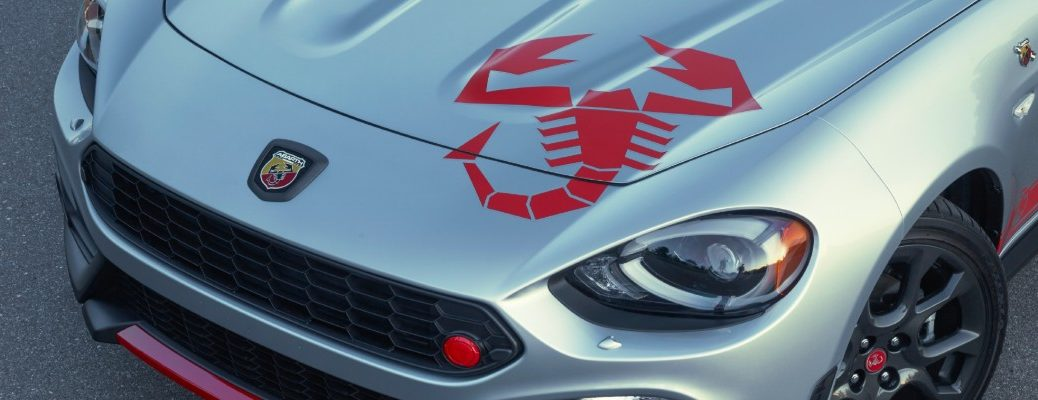 2020 Fiat 124 Spider Abarth Scorpion Sting appearance group exterior shot of hood decal