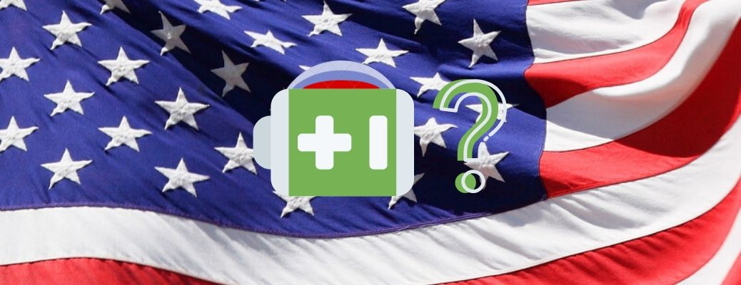 Image of a battery attached to a subtle Fiat logo, followed by a question mark, on an American flag backdrop.