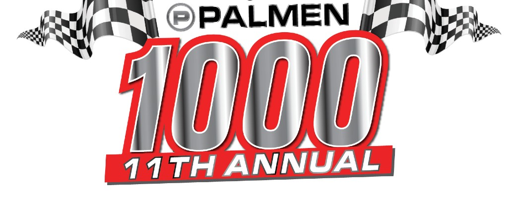 Palmen Auto Group Palmen 1000 11th Annual banner image featuring racing flags