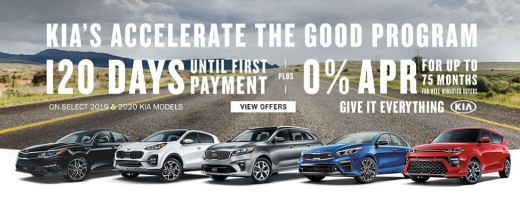 Kia's Accelerate the Good program incentive details banner